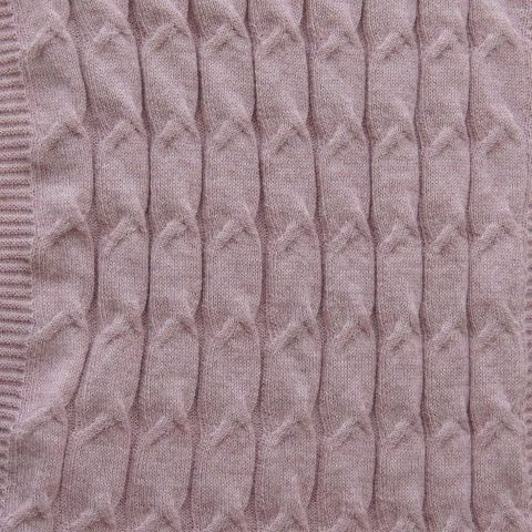 Circle scarf 100% baby alpaca unisex, cable pattern knitted scarf, pink