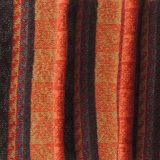 Scarf 100% alpaca with ethinic pattern Jacquard knitted orange - multicolor unisex