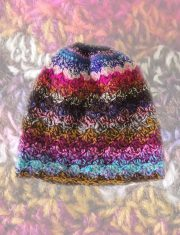 Women's beanie hand knitted 100% sheep wool