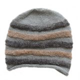 Beanie / hat 100% alpaca in natural colors, women's hat, men's hat, gray - beige