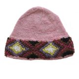 Beanie / hat 100% alpaca naturally dyed colors, women's winter beanie, pink