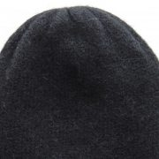 Beanie  hat felted alpaca blend black double knitted extra warm, unisex beanie, also to wear as a short scarf.