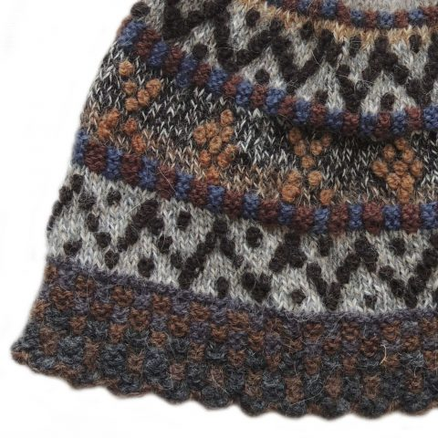 Beanie / hat 100% alpaca naturall colors, winter beanie with pompon handmade