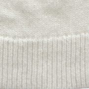 Beanie white in wam and soft alpaca blend with rib brim