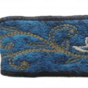 Hairband jacquard knitted with hand embroidered details alpaca blend