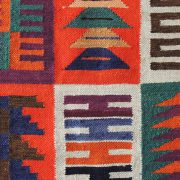 Woolen Adean tapestry, Inca calender, natural dyes made by Peruvian artisans