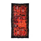 Tapestry wool embroidered with ethnic pattern , walhanging 44 x 22 inch