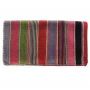Rug, Peruvian frazada, handwoven natural woolen blanket, Frazada with colorful design