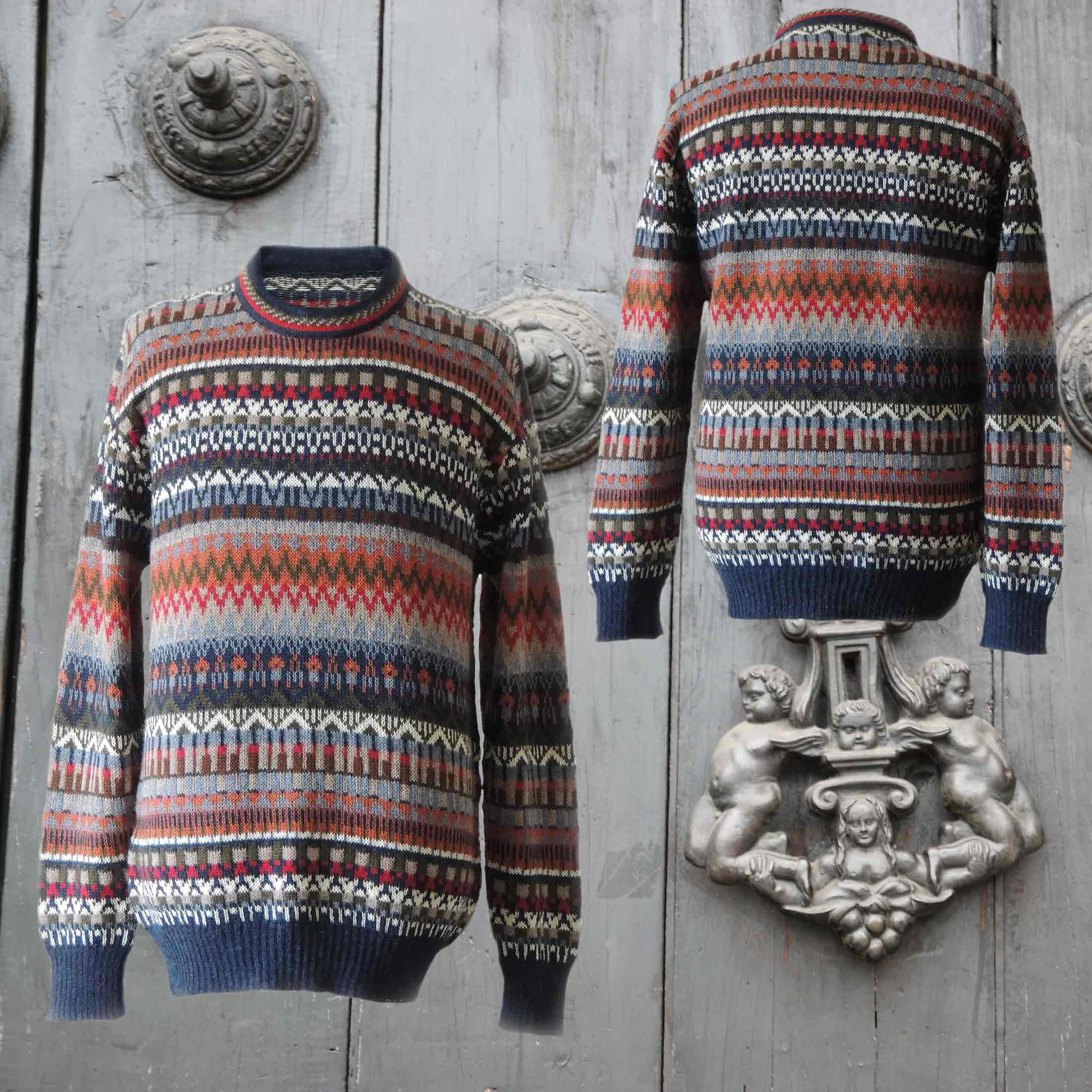 PFL knitwear men's sweater 100% alpaca knitted