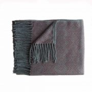 Throw with fringes gray-old pink, alpaca blend throw, BUY 2 30% OFF