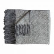 Alpaca Blanket / Throw with fringes gray- dark gray, alpaca blend throw BUY 2 30% OFF