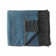 Soft and warm blanket / throw in a color combination of gray and old pink Woven in a blend of alpaca,