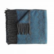 Alpaca Blanket / Throw with fringes gray-blue, alpaca blend throw BUY 2 30% OFF