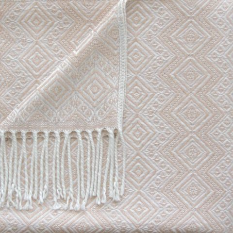 Alpaca Blanket / Throw with fringes white - beige, alpaca blend throw, BUY 2 30% OFF