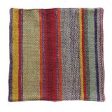 Peruvian pillow cover, handmade woven with colorfull pattern 19 x 19 inch