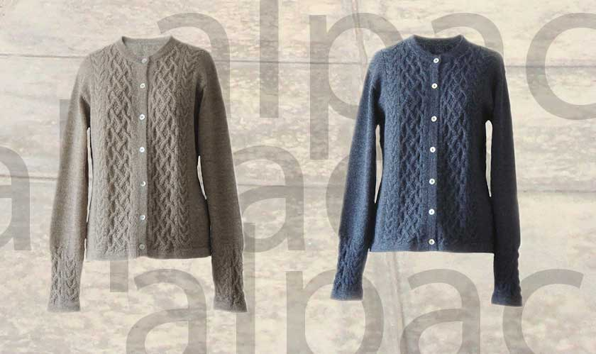 Popsplaza.com cable knitted women's cardigans 00% alpaca
