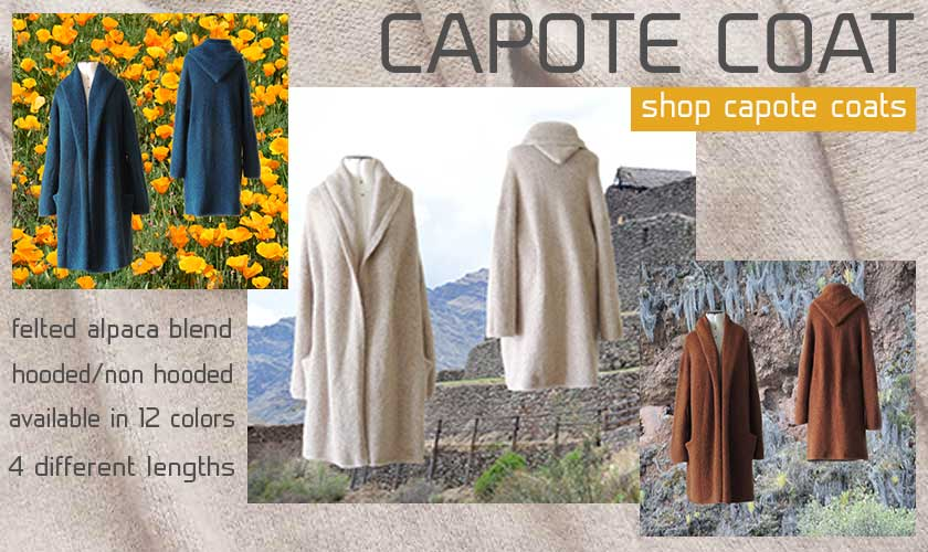 PopsPlaza.com shop capote coats available in 12 colors 4 lengths